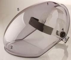 Protector Facial Esfera Incoloro, Arnes Cremallera