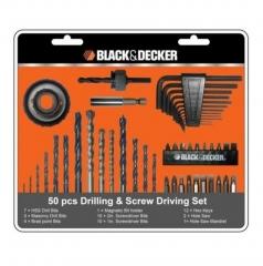 Set Para Taladro Y Atornillador 50 Pzs Black&decker Bd7806-lac