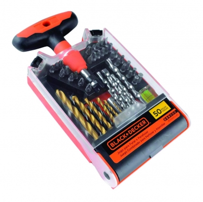 Set 50 Mechas Para Perforar Atornillar Black Decker Bda50x
