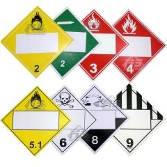 Rombo Sustancias Peligrosas Grado Diamante 12 X 12cm.