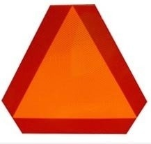 Triangulo Reflectivo Y Fluorescente Grado Diamante Autoadhesivo.
