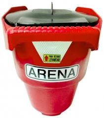 Balde Para Arena Con Tapa Y Base Para Colocar En La Pared