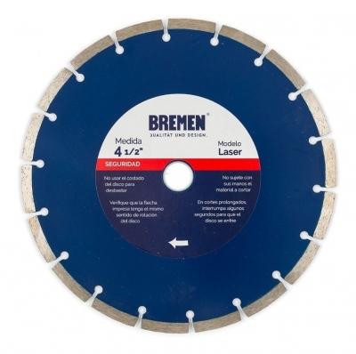 Disco Diamantado Segmentado 4 1/2 (115mm) Bremen 4526