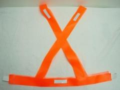 Bandolera Naranja Pvc Con Reflectivo Sin Dobladillo Art.1062