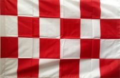 Bandera Art.1072 Seg. Aerop. Rojo/blanco Cuadros 90x90