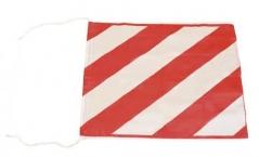 Bandera Art.1073/1 Cebrada Roja Y Blanca 50x70