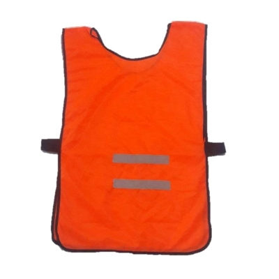 Chaleco Tipo Poncho Poliester Naranja Con Reflectivo.