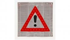 Bandera Plastica Con Signo De Advertencia Con Luz Led. Cd-154