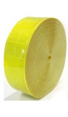 Cinta Reflectiva Para Coser Cuadrados Amarilla 5cmxmt Cd-6405a