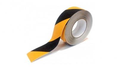 Rollo Cinta Antideslizante Amarilla Y Negra 50mmx18mts. 7299an