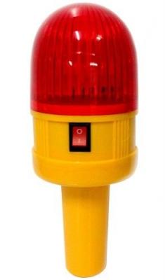Faro Intermitente Led Rojo P/cono O Manual 4 Pilas Aa No Incl.