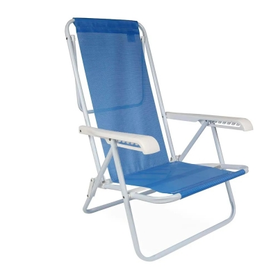 Silla Reclinable 8 Posiciones Mor Color Azul