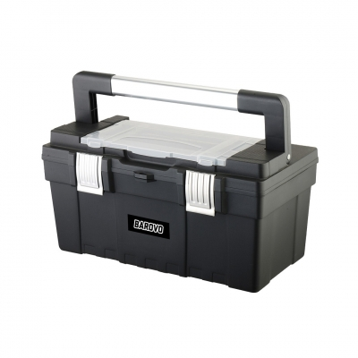 Caja De Herramienta De 21 Plástica Con Cierre De Aluminio Barovo