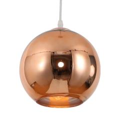 Luminaria Colgante Esférica 25 Cm Cobre Etheos Col25ce