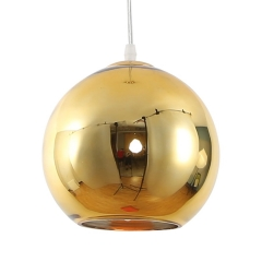 Luminaria Colgante Esférica 25 Cm Dorada Etheos Col25de