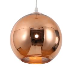 Luminaria Colgante Esférica 30 Cm Cobre Etheos Col30ce