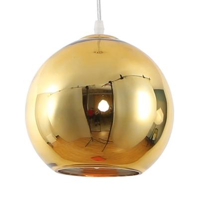 Luminaria Colgante Esférica 30 Cm Dorada Etheos Col30de