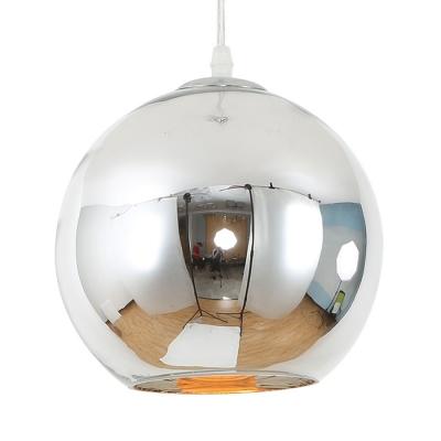 Luminaria Colgante Esférica 30 Cm Plateada Etheos Col30pe