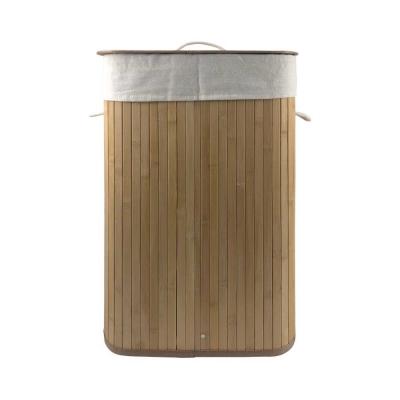 Cesto Plegable De Bambú Rectangular Vonne Org020