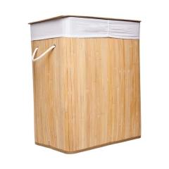 Cesto Doble Plegable De Bambú Rectangular Vonne Org021