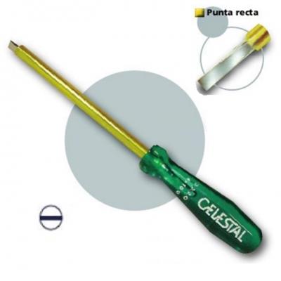 Destornillador Punta Plana Recta Para Elect.  3x75mm Celestal 1220