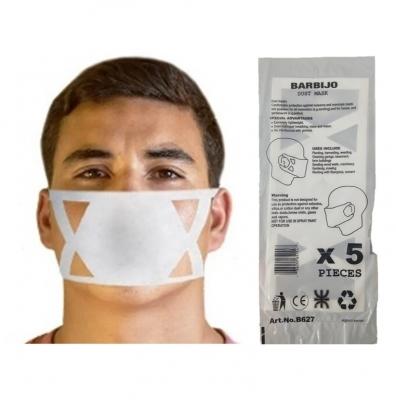 Barbijos Descartables Dust Mask X 5 Unid