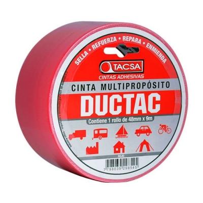 Cinta Ductac Tacsa Roja 50mm X 27mt