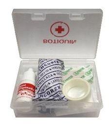 Botiquin 9e Poliestireno Cristal Semirigido. 10,5x7,5x3,5cm.