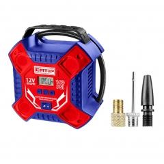 Compresor 12v 160psi 3 Picos 3mts C/luz Emtop Eaac3502