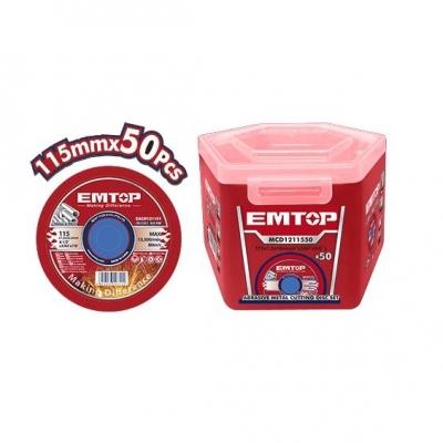 Disco De Corte 115x1,2 Metal/inox Caja X 50un Emtop Eacd211550
