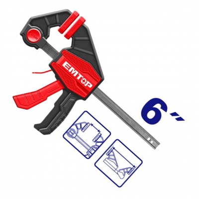 Prensa Rapida Clamp 63x150mm Emtop Eclpq60101