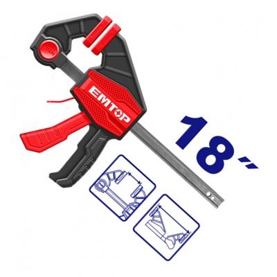 Prensa Rapida Clamp 63x450mm Emtop Eclpq60103