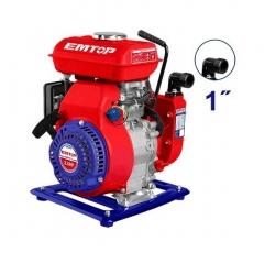 Motobomba De Agua A Nafta Industrial 100l/m 2,5hp 1pulg 105cc Emtop Egwp2512