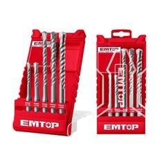 Set 5 Mechas Sdsplus 6/8x110 Y 8/10/12x160 Emtop Ehdr12052