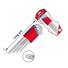 Juego De Llaves Torx Largas Industrial Cr-v 9pzs T10-t50 Emtop Ehky3091