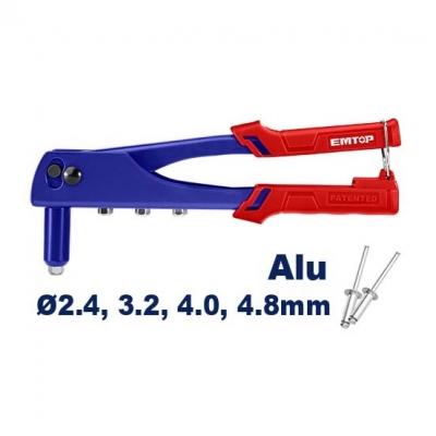 Remachadora Pop 10.5 Pul 2.4-4.8mm Emtop Ehrr101