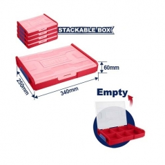 Caja Organizadora Apilable 340x250x60mm Emtop Eptbv01