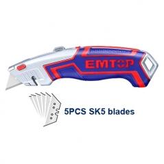 Cutter Metalico Trapezoidal C/grip C/5 Hojas Rpto Emtop Esnkt6118