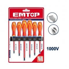 Set 6 Destornilladores 1000v Industrial Pl Y Ph Cr-v Emtop Esstjs061