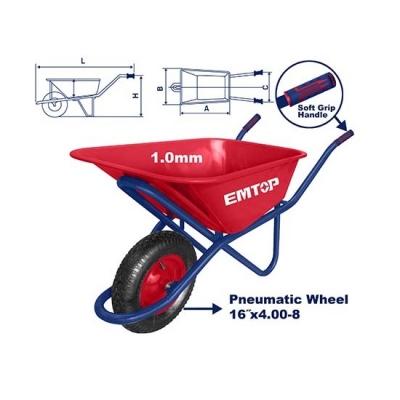 Carretilla Metalica Industrial 90l/150kg Rueda Neumatica 16
