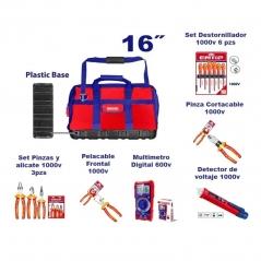 Set Promocion 7 Herramientas En Bolso 16pulg Emtop Kit1