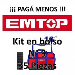 Set Promocion 35 Herramientas En Bolso 16pulg Emtop Kit9