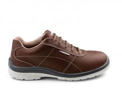 Par Zapato Urbano Ultraliviano De Seguridad Mod.city Brown Cuero Ultra Premium