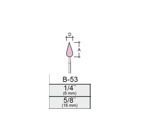 Punta Montada B53 – 8x16 – Vástago 1/8 (3,17 Mm)