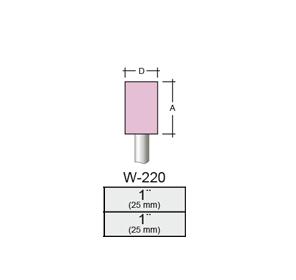 Punta Montada W220 – 25x25 – Vástago 1/4 (6,35 Mm) Rosa