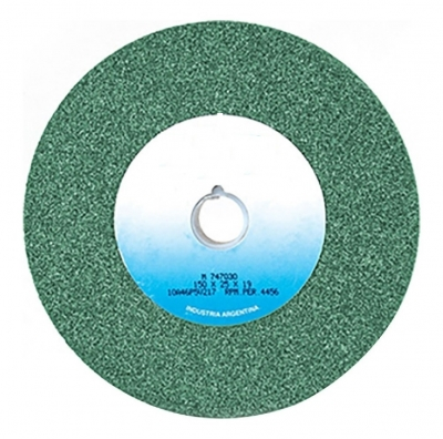 Rueda Recta  Tipo 1  178 X 25.4 X 19,1 Carb.silc.verde G80j