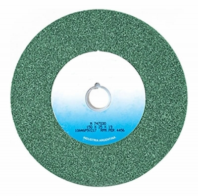Rueda Recta  Tipo 1  203 X 25.4 X 19,1 Carb.silc.verde G80j