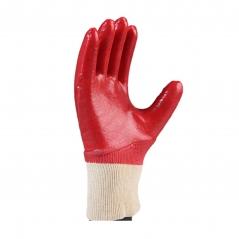 Par Guante Pvc Rojo 25cm Puno Elastizado Bano Completo Hiflex