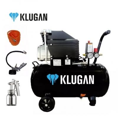Compresor Klugan 24lt 2hp Cdm24 Con Kit 1961/m