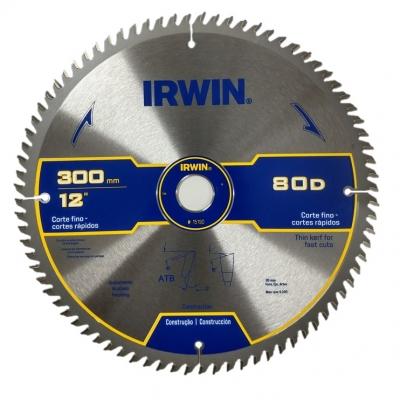 Sierra Circular Irwin 15190 12 80t Buje: 30mm/25mm